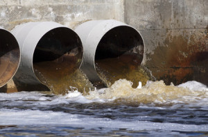 44187959 - toxic water running from sewers to the environment